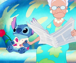 stitch, disney, and rose image
