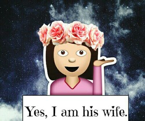 wife, emoji, and love image