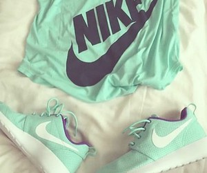 nike, shoes, and t-shirt image