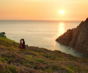 Cornwall, couple, and kiss image