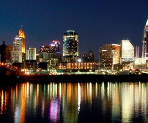 city lights, cool, and lights image
