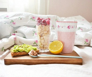 breakfast, food, and pink image