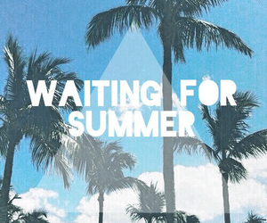 summer, beach, and waiting image