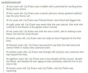 harry potter, hogwarts, and lily evans image