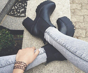 black, modern, and shoes image