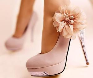 shoes, flowers, and pink image