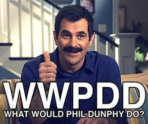 funny, modern family, and phil image