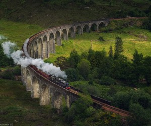 train, scotland, and harry potter image