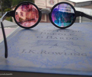 harry potter, galaxy, and glasses image