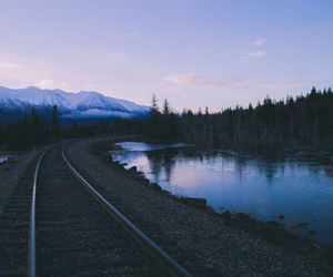 mountains, nature, and train image