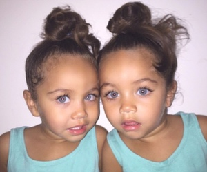 baby, twins, and eyes image