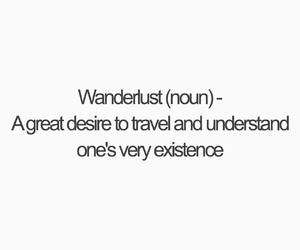 quote, travelling, and wanderlust image
