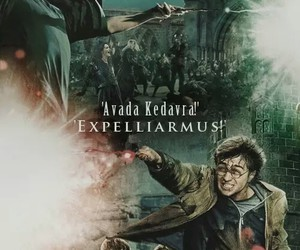 harry potter, voldemort, and expelliarmus image