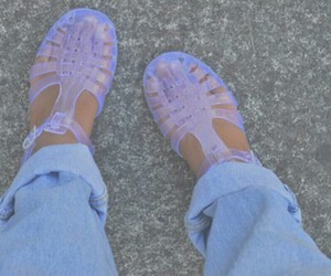 jelly, shoes, and jeans image