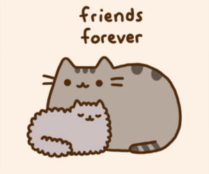 pusheen, cat, and friends image