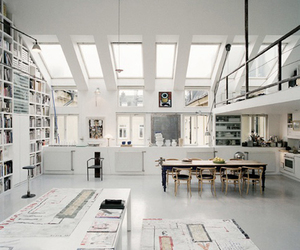 home, white, and interior image