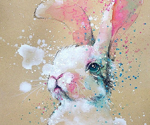 animal, painting, and rabbit image