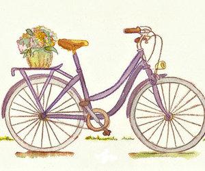 bike, cute, and drawing image