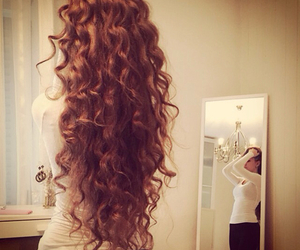 hair, curly, and style image