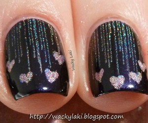 black, pinks, and glitter image