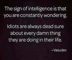 idiots, quote, and intelligence image