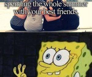summer, friends, and spongebob image