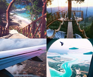 nature, airplan, and relax image