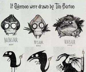pokemon, tim burton, and drawing image