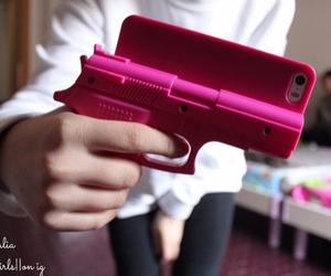 gun and pink image