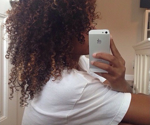 curly hair, curly, and hair image