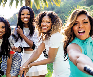 think like a man, gabrielle union, and taraji p. henson image