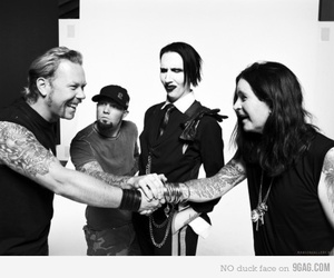 Marilyn Manson, Ozzy Osbourne, and metallica image