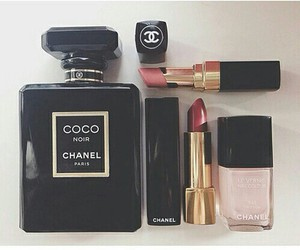 chanel, lipstick, and makeup image