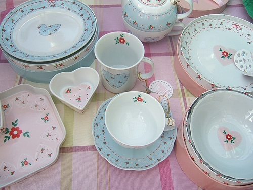 china, deco, and pink image