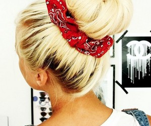 blonde, bandana, and beautiful image