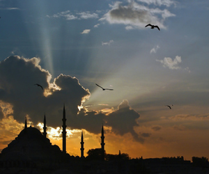 architecture, clouds, and istanbul image