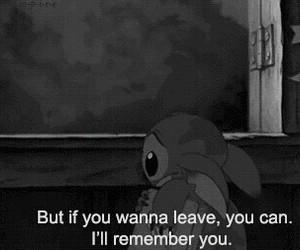 quote, sad, and stitch image