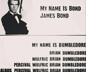 harry potter, funny, and James Bond image
