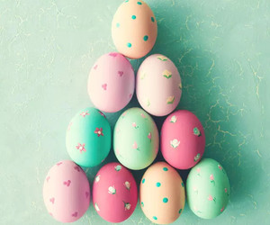 happy easter and pastel image