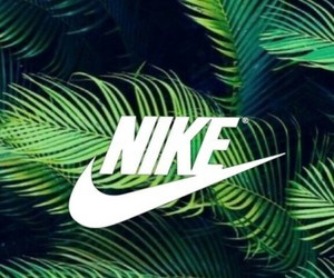 green, nike, and plants image