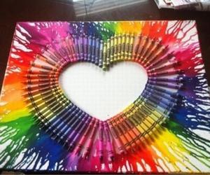 heart, art, and crayon image