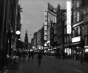 amsterdam, black, and white image