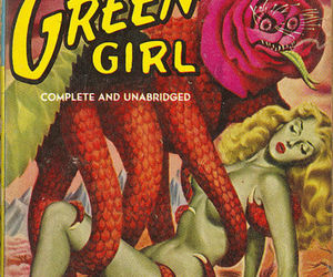 book, sci-fi, and the green girl image