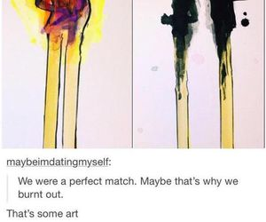 art, cute, and burnt image