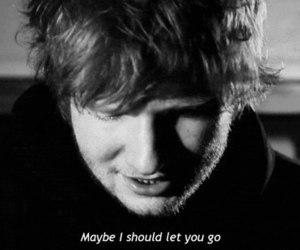 ed sheeran, black and white, and Lyrics image