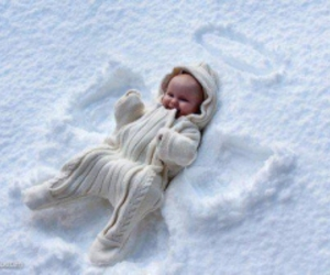 angel, baby, and snow image