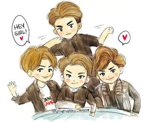 exo, fanart, and call me baby image