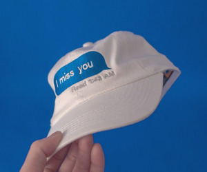 blue, cap, and white image