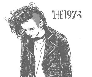 the 1975, matty healy, and drawing image