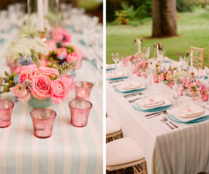 roses, pink, and wedding image
